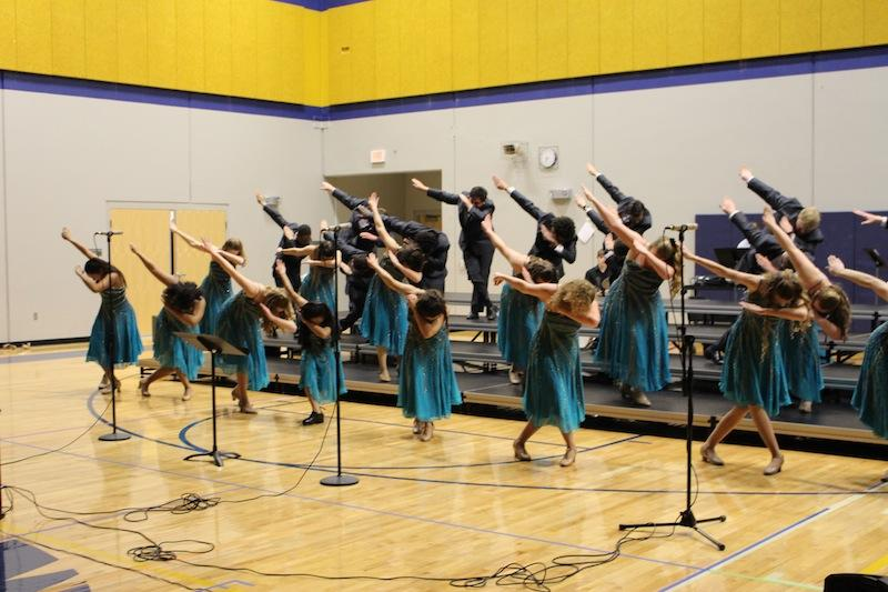 The show choir incorporated a Dab into their performance at the Beaux Arts Ball in February.