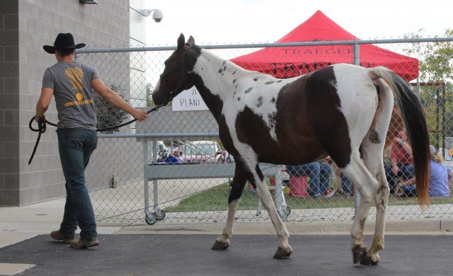 Isaiah DeShon and his horse
