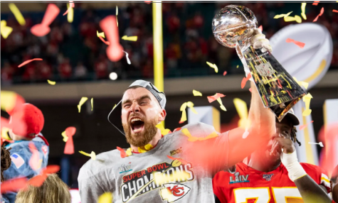 Kansas City Chiefs Tight End, Travis Kelce (87) after Super Bowl 54 between the Kansas City Chiefs and the San Francisco 49ers on February 2, 2020. (Matt Starkey) Photo provided by Chiefs media page.